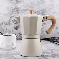 Bình Moka pha cà phê thiết kế theo phong cách Ý cổ điển 3 cup 150ml nhỏ gọn tiện lợi thumbnail