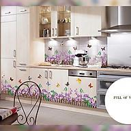 Decal dán tường trang trí phòng khách- chân tường hoa tím- mã sp DAY872 thumbnail