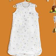 Túi ngủ organic cotton cho bé - túi ngủ trần bông nhiệt độ phòng 22-26 độ cho bé từ 3 tới 12 tháng Tinylove - tặng đồ chơi tắm 2 món thumbnail