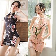 Váy Ngủ Sườn Xám Gợi Cảm Sexy Tặng Quần Lọt Khe Cosplay See Through Body Sexy Lingerie Bodystocking erotic lingerie Nightwear BCS21 A216 thumbnail