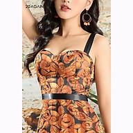 Đầm maxi dài cúp ngực 20AGAIN DMC0083 quyến rũ với vải lụa cao cấp thumbnail