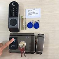 Khóa cổng thẻ từ - vân tay 2 mặt đọc thông minh SG-IDL10B ( Chạy bằng Pin) thumbnail