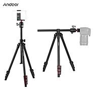 Andoer Q160H Portable Camera Tripod Horizontal Mount Professional Travel Tripod with 360 Panoramic Ball Head Universal thumbnail