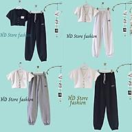 set áo croptop in chữ + quần Jogger siêu hot hit 0089 thumbnail