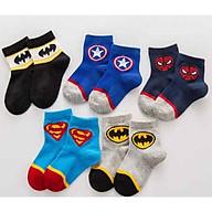 set 5 đôi tất siêu nhân cho bé từ 4 đến 6 tuổi, cam kết đẹp và chất lượng tốt, y hình mẫu, GIÁ RẺ thumbnail