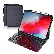 Bao da bàn phím Dux Ducis cho iPad Pro 11inch (2018) - Đen - Có khay để bút siêu tiện lợi - Bao da kiêm bàn phím cho iPad Pro 11 (2018) - Hàng nhập khẩu thumbnail