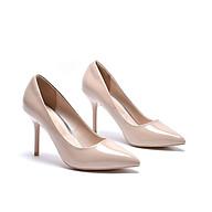 Giày cao gót da bóng trơn gót đũa nhỏ đế đỏ - 7P thumbnail