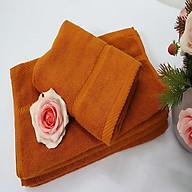 Combo 5 khăn quấn tóc, khăn mặt SPA Nam Phong - 34x80 cm - màu da bò thumbnail