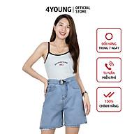 Quần short Jean nữ lưng cao 4YOUNG QJN1 thumbnail