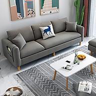 Ghế sofa góc 3 chỗ ngồi vải lanh cao cấp hình chữ L Đi văng kiểu hiện đại phù hợp cho căn hộ nhỏ KT 210x142x78 thumbnail