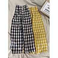 quần vải kẻ ống rộng thumbnail