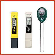Combo bút đo ph, bút thử nước tds&ec, máy đo độ ẩm, ph và ánh sáng của đất thumbnail
