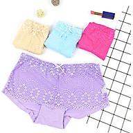 Combo 4 quần lót nữ cotton phối ren kiểu quần đùi đơn giản gợi cảm quyến rũ cho bạn gái duới 57kg (Ninedra) thumbnail