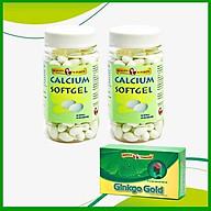 Combo 2 chai TPCN bổ xương bổ sung Calcium ( canxi) và Vitamin D3- Calcium softgel Robinson Pharma Usa-Chai 100 viên-tặng 1 hộp tuần hoàn não GINKGO GOLD h 30v thumbnail
