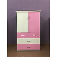Tủ nhựa đài loan 2 cánh 4 ngăn kéo hồng (cao 1m35 x rộng 85cm x sâu 45cm) thumbnail