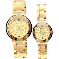 Cặp Đồng Hồ Nam Nữ Halei HL457 (Tặng pin Nhật sẵn trong đồng hồ + Móc Khóa gỗ Đồng hồ 888 y hình + hộp chính hãng) thumbnail
