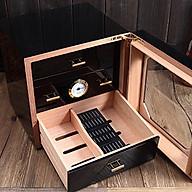 Tủ Xì Gà Mini Bảo Quản Giữ Ẩm Cigar Màu Đen thumbnail
