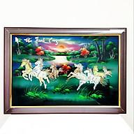Tranh sơn mài tranh phong thủy mã đáo thành công SM00004 60x40cm thumbnail