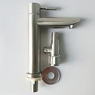 Bộ 2 sản phẩm Lavabo lạnh SUS inox 304 và T cầu inox và lavabo lạnh inox_ bộ 2 sản phẩm lavabo lạnh và T cầu Cao Cấp_Van T 1 Cầu Inox 304_Van T cầu khóa inox_ củ lavabo lạnh inox cao cấp thumbnail