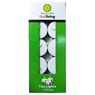 Nến tealight 10 viên không mùi dày 1.3cm cháy từ 3h-4h Bio Aroma thumbnail
