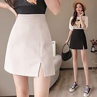 BIGSIZE nữ chân váy công sở chữ A xẻ tà (có lót trong ) CVBS006 beostyle cho người béo mập 40-100kg thumbnail