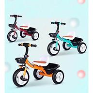 Xe đạp 3 bánh mẫu mới đẹp nhất yên bọc đệm da (giao màu bé trai) thumbnail
