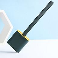 Bộ dụng cụ vệ sinh chổi cọ bồn cầu silicon bàn chải mền mại cọ mọi ngóc ngách cọ sạch nhanh tay cầm chắc chắn độ bền cao giảm bào mòn lông chải (Giao màu ngẫu nhiên) thumbnail
