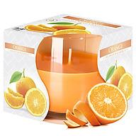 Ly nến thơm tinh dầu Bispol Orange 100g QT024776 - hương cam ngọt thumbnail