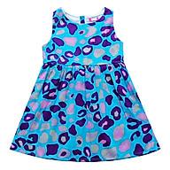 Đầm Tùng Bé Gái Họa Tiết Beo Nền Xanh CucKeo Kids thumbnail