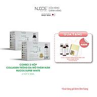 Combo 2 Hộp Collagen trắng da mờ thâm nám Nucos Super White 2x50mlx10 chai thumbnail