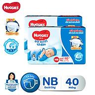Combo 2 tã dán sơ sinh Huggies Diapers New Born NB40 thumbnail