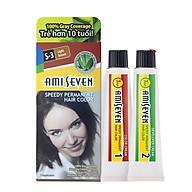 Nhuộm phủ bạc dược thảo Amiseven nhanh 7 phút AMI SEVEN Speedy Permanent Hair Color (60g + 60g) thumbnail