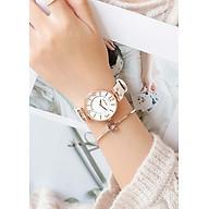 Đồng hồ nữ dây da mặt tròn trắng sang chảnh Guou ĐHĐ23003 thumbnail