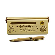 Bút gỗ bi xoay làm quà tặng ngày 20 11 (Kèm hộp đựng sang trọng) thumbnail