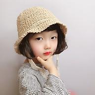 Mũ cói cột nơ ren Hàn Quốc siêu yêu cho bé thumbnail