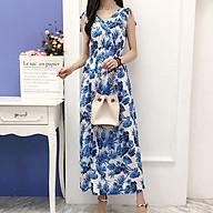Váy đầm maxi đẹp chất thun lạnh co giãn giấu bụng size 40-70Kg dạo chơi, đi biển - Maxi 64 mẫu mới 2021 thumbnail