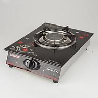 Bếp ga 1 lò nấu đầu đốt hồng ngoại tiết kiệm ga nhỏ gọn Kamachi-H, hoa văn ngẫu nhiên-hàng chính hãng thumbnail