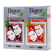 Combo 2 Thuốc Nhuộm Phủ Bạc dạng kem Bigen Speedy Hair Color Conditioner (80mlx2) thumbnail