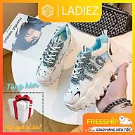 Giày Nữ Thể Thao Thời Trang Cao Cấp Ladiez Giày Sneaker Đính Nhũ Độn Đế Cổ Thấp Mềm Êm Chân Xinh Xắn Siêu Đẹp thumbnail