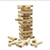 Bộ đồ chơi rút gỗ 54 miếng - Đồ chơi bằng gỗ cho bé thumbnail