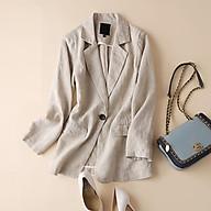 Áo vest blaze nữ 1 lớp linen dài tay túi bổ nắp, chất vải Linen mềm mại, thời trang thương hiệu chính hãng thumbnail