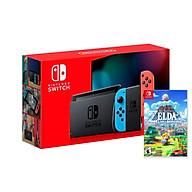Máy Chơi Game Nintendo Switch Với Neon Blue Kèm Zelda Link s Awakening-MODEL 2019-HÀNG NHẬP KHẨU thumbnail