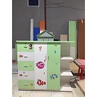 Tủ áo trẻ em 2 cánh 5 ngăn và kệ Juno Sofa thumbnail