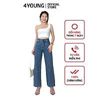 Quần jeans nữ dài ống suông có túi trẻ trung 4YOUNG QJ2 thumbnail