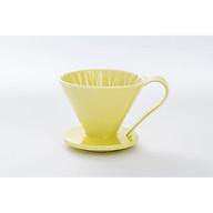 PHỄU LỌC CÀ PHÊ SANYO CAFEC V60 DRIPPER FLOWER 1LY CFD 01Y MÀU VÀNG thumbnail