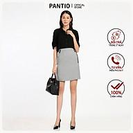 Chân váy ngắn chất liệu thô dáng chữ A đính cúc FJN5551 - PANTIO thumbnail