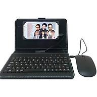Combo bao da bàn phím kèm chuột + lót chuột cho điện thoại, máy tính bảng hệ điều hành andtoid từ 4.5-8 inch thumbnail