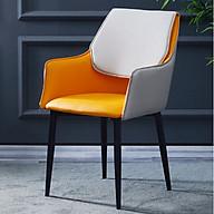 Ghế ăn da trơn nệm lưng cách điệu (kt 85x40x45cm) Giao màu ngẫu nhiên thumbnail