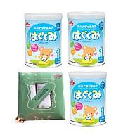 Combo 3 hộp sữa morinaga số 1 Hagukumi (850g) - Tặng set 3 khăn tắm thumbnail