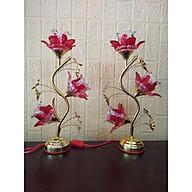 Đèn thờ bóng led hoa thuỷ tinh ( dành thờ bàn thờ đứng hoặc bàn thờ treo) - Sâu 14x Ngang 24 x Cao 45 thumbnail